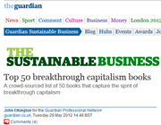 <i>Consumptionomics</i> in Top 50 breakthrough capitalism books