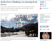 Radical new thinking was missing from Davos